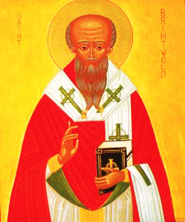 Icon of St. Brithwald of Wilton